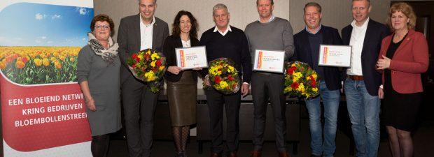Drie Nominaties KBB Award 2017 uitgereikt aan bedrijven in Duin- en Bollenstreek.